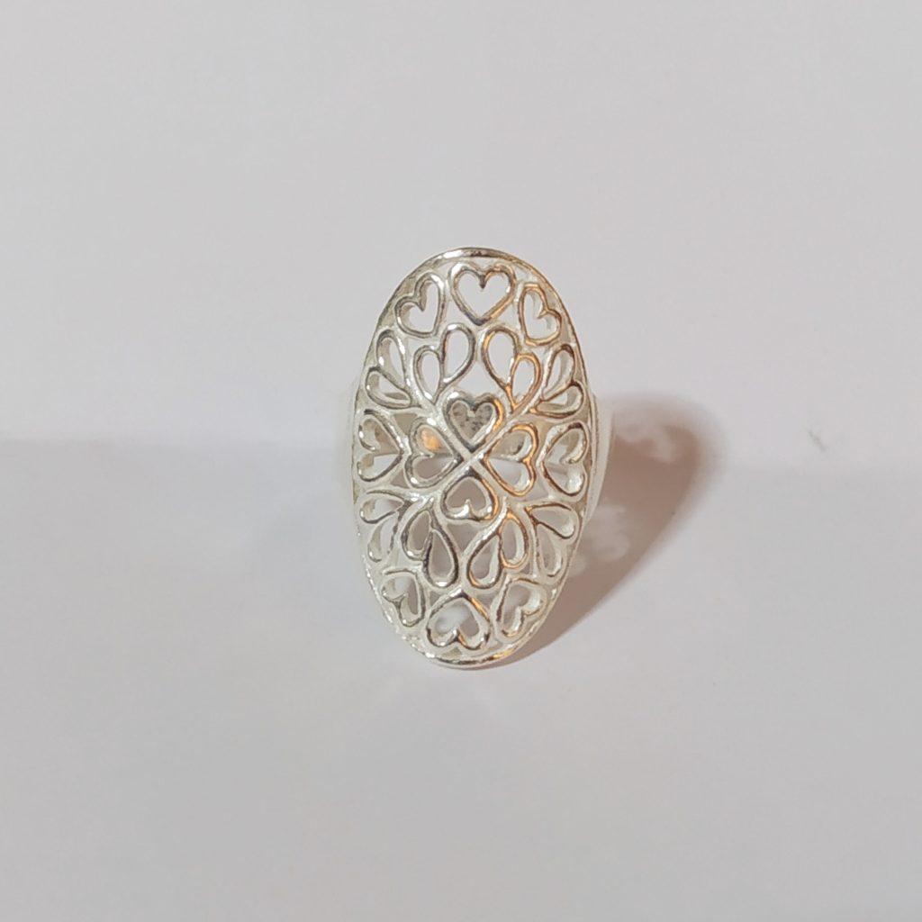 แหวนเงินแท้ ฉลุลายหัวใจ 925 Sterling Silver