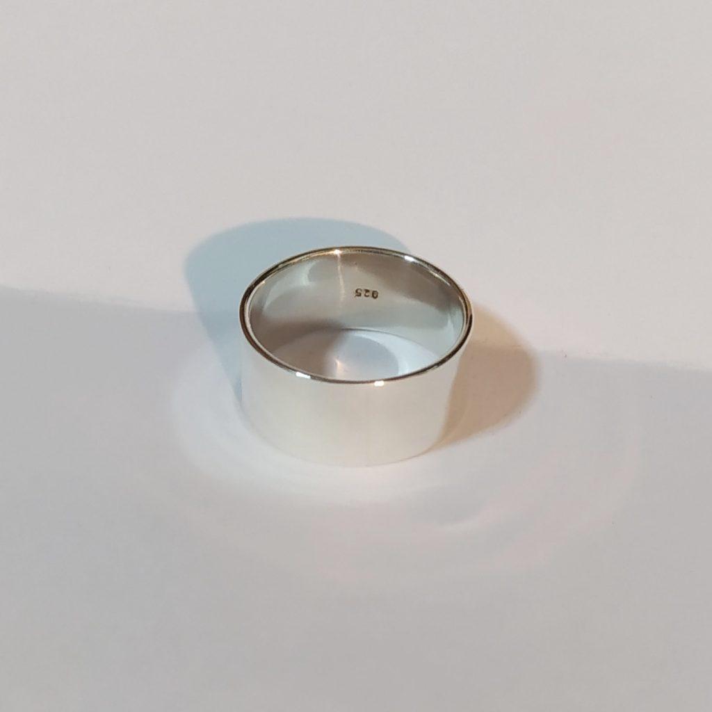 แหวนเงินแท้ แหวนเกลี้ยง หน้าแบน 10 มม.