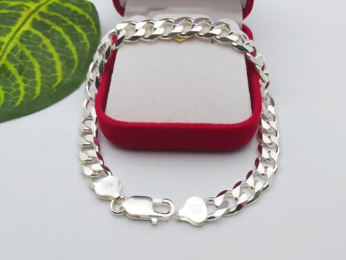 สร้อยข้อมือเงินแท้ลายเลส 925 Sterling Silver Oval Single Curb Bracelet